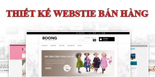 Thiết kế web bán hàng trực tuyến