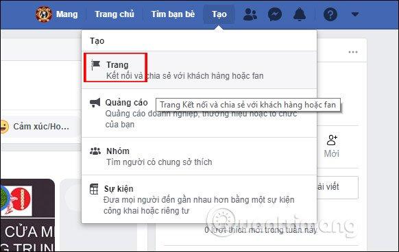 Tạo Page trên Facebook PC