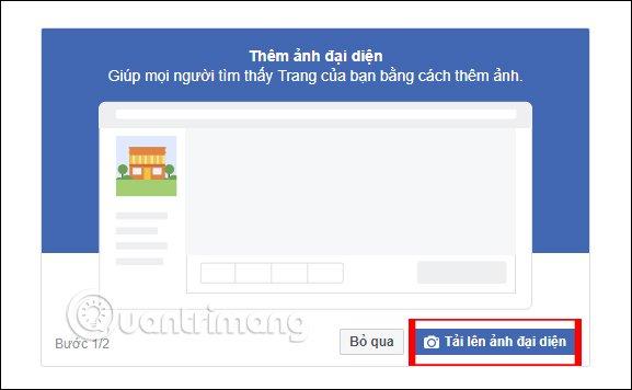 Chọn ảnh đại diện Page trên Facebook PC