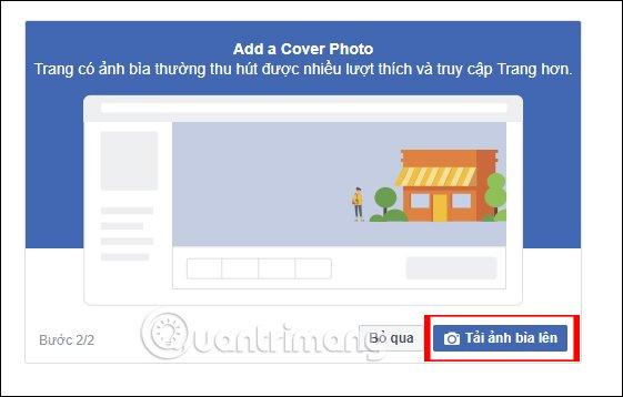 Chọn ảnh bìa Page trên Facebook PC