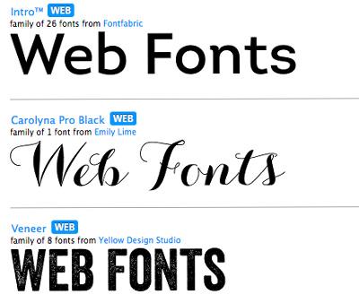 font cho thiết kế web